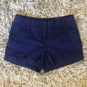 Express dress shorts linen blue pockets